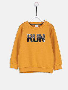 Erkek Bebek Payet İşlemeli Sweatshirt