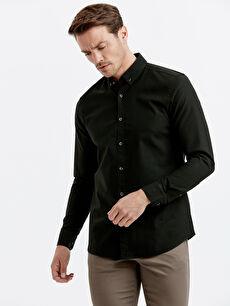 Slim Fit Uzun Kollu Oxford Gömlek