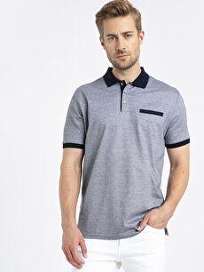 Merserize Polo Yaka Kısa Kollu Erkek Tişört