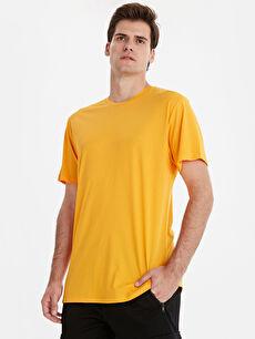 Bisiklet Yaka Kısa Kollu Basic Oversize Tişört