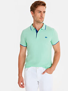 Slim Fit Polo Yaka Pike Tişört
