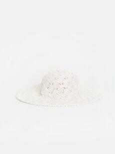 Dantelli Fötr Şapka