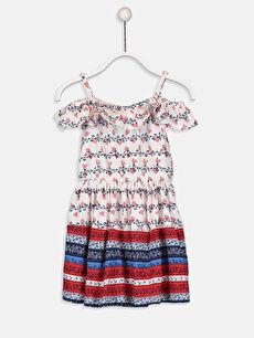 Kız Çocuk Omuzu Açık Pamuklu Elbise