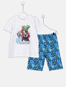 Erkek Çocuk Avengers Lisanslı Pijama Takımı