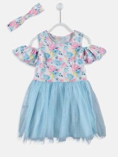 Kız Çocuk Omuzu Açık Tütü Elbise