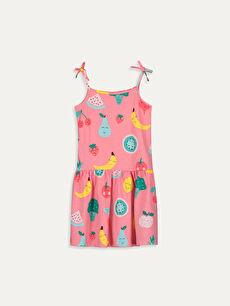 Kız Çocuk Baskılı Elbise