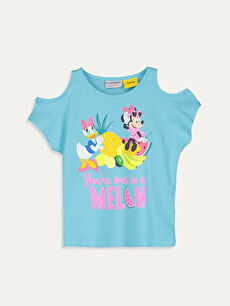 Kız Çocuk Minnie Mouse Pamuklu Tişört