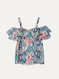Kız Çocuk Omuzu Açık Viskon Bluz
