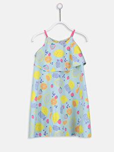 Kız Çocuk Baskılı Pamuklu Elbise