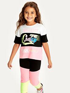 Kız Çocuk Baskılı Pamuklu Tişört
