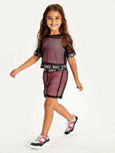 Kız Çocuk Fileli Tişört ve Atlet