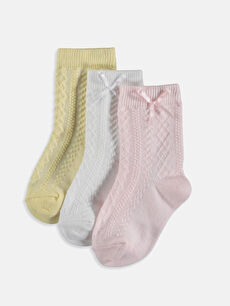 Kız Bebek Soket Çorap 3'lü