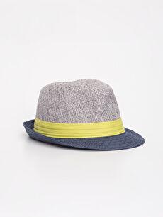 Erkek Bebek Hasır Şapka