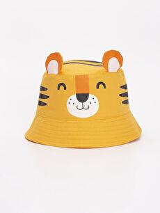 Erkek Bebek Hayvan Figürlü Dokuma Şapka