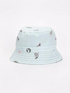 Erkek Bebek Desenli Şapka