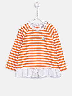 Kız Bebek Çizgili Sweatshirt