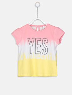 Kız Bebek Yazı Baskılı Pamuklu Tişört