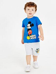 Erkek Bebek Mickey Mouse Baskılı Tişört