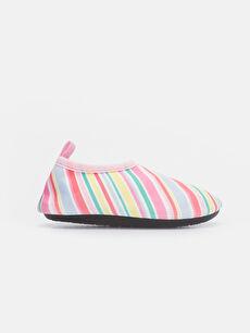 Kız Bebek Rengarenk Şeritli Deniz Ayakkabısı