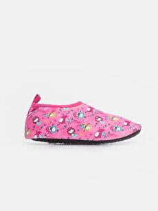 Kız Bebek Desenli Deniz Ayakkabısı