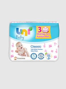 Uni Baby Yenidoğan İslak Pamuk Mendil 3'Lü Paket