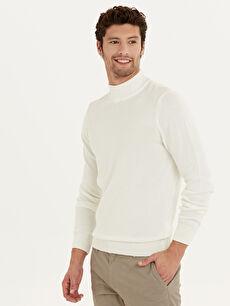 Turtleneck Long Sleeve Men's Knitwear Sweater