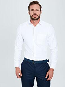 Regular Fit Uzun Kollu Gabardin Gömlek