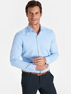 Slim Fit Ekose Uzun Kollu Gömlek