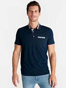 Polo Yaka Kısa Kollu Pamuklu Tişört