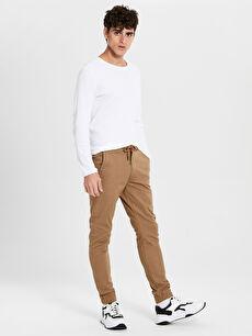 Slim Fit Gabardin Jogger Pantolon