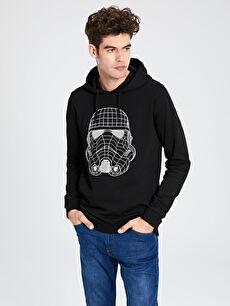 Star Wars Baskılı Kapüşonlu Sweatshirt
