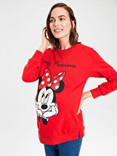 Mickey Mouse Baskılı Hamile Sweatshirt