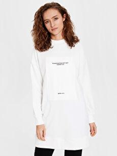 Baskılı Spor Sweatshirt