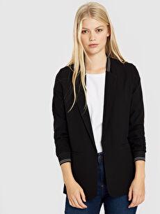 Quzu Şerit Detaylı Blazer Ceket