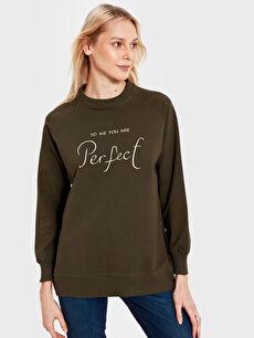 Allday Yazı Nakışlı Sweatshirt