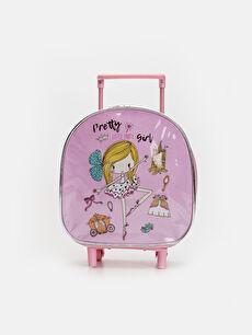 Kız Çocuk Desenli Çekçekli Çanta