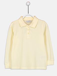 Polo Yaka Basic Uzun Kollu Kız Çocuk Tişört