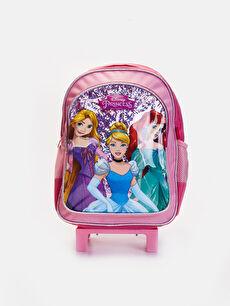 Kız Çocuk Disney Prenses Çekçekli Çanta