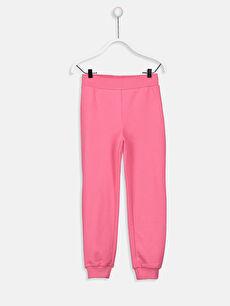 Pink Elastic Waist Girl Jogger Sweatpants