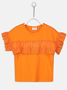 Kız Çocuk Fisto Detaylı Pamuklu Tişört