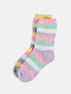 Kız Çocuk Kalın Ev Çorabı 2'li