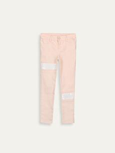 Kız Çocuk Çift Yönlü Payetli Skinny Pantolon