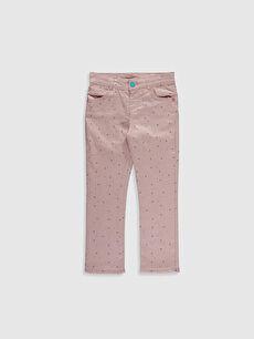 Kız Çocuk Slim Gabardin Pantolon