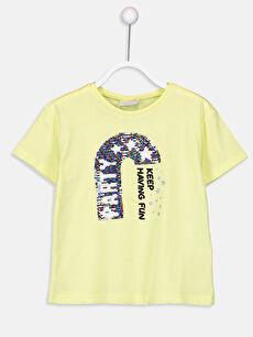 Kız Çocuk Çift Yönlü Payetli Tişört