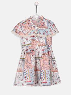 Kız Çocuk Çiçekli Gömlek Elbise