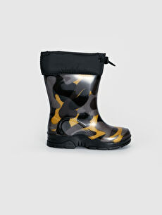 Patterned Rain Boots For Boy