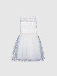 Kız Çocuk Dantelli Tütü Elbise