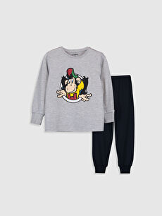 Erkek Çocuk Nostaljik Maymun Baskılı Pijama Takımı