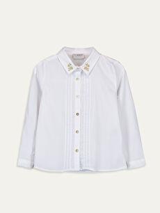 Kız Çocuk Uzun Kollu Poplin Gömlek
