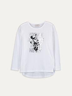 Kız Çocuk Minnie Mouse Pamuklu Tişört Anne Kız Kombini
